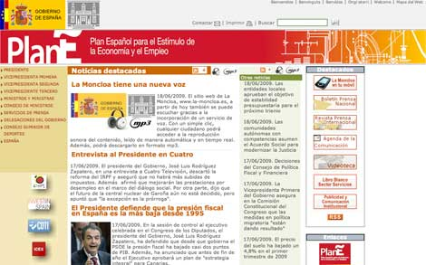 web de La Moncloa