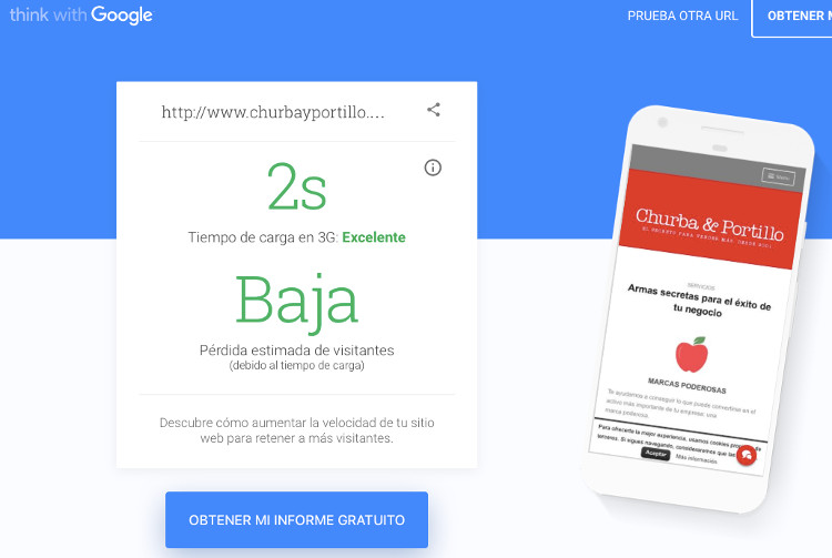 Churba & Portillo en Test My Site